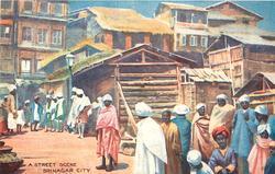 A STREET SCENE, SRINAGAR CITY