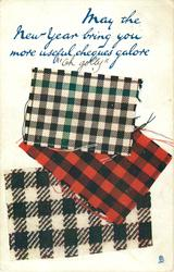 MAY THE NEW YEAR BRING YOU MORE USEFUL CHEQUES GALORE  three tartans