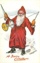 A MERRY CHRISTMAS  Santa doing diabolo