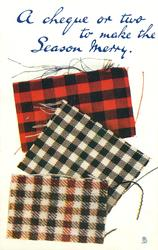 JUST A CHEQUE FOR CHRISTMAS WITH ALL GOOD WISHES  three tartans