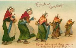 CHRISTMAS GREETINGS five irish women move right