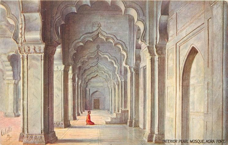 INTERIOR  PEARL MOSQUE AGRA FORT