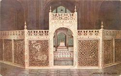 INTERIOR OF TAJ