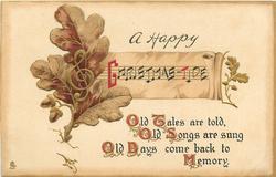 A HAPPY CHRISTMAS-TIDE  oak leaf