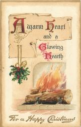 FOR A HAPPY CHRISTMAS  yule log fire