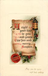 CHRISTMAS GREETINGS (in seal)