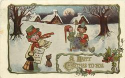 A HAPPY CHRISTMAS TO YOU  carol singers