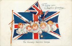 TO BRING YOU CHRISTMAS GREETINGS  five children, two flags
