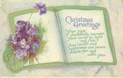 CHRISTMAS GREETINGS  violets