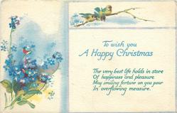 TO WISH YOU A  HAPPY CHRISTMAS  forget-me-nots