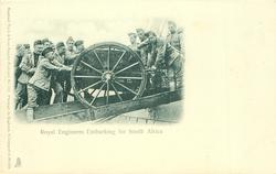 ROYAL ENGINEERS EMBARKING FOR SOUTH AFRICA
