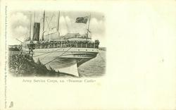 "ARMY SERVICE CORPS, S.S. ""BRAEMAR CASTLE"""