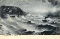 ROUGH SEA OFF THE HARBOUR, SARK