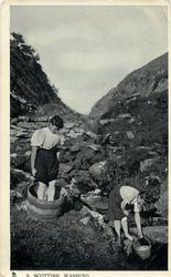 A SCOTTISH WASHING  two women in the stream