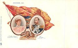 SOUVENIR 1901 ADVANCE AUSTRALIA, 2 insets flag & crest