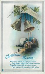CHRISTMAS WISHES  bells, church