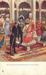 AN INDIAN PRINCE PAYING HOMAGE TO THE VICEROY
