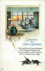 GREETINGS FOR A HAPPY CHRISTMAS  kittens
