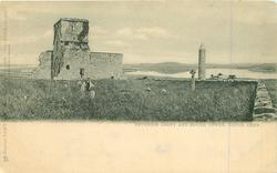CO. FERMANAGH   DEVENISH ABBEY AND ROUND TOWER, LOUGH ERNE