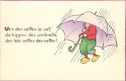 VEN DER VETTER IS VET, DE BIGGER DER UMBRELLA DER LESS VETTER DER VETTER!