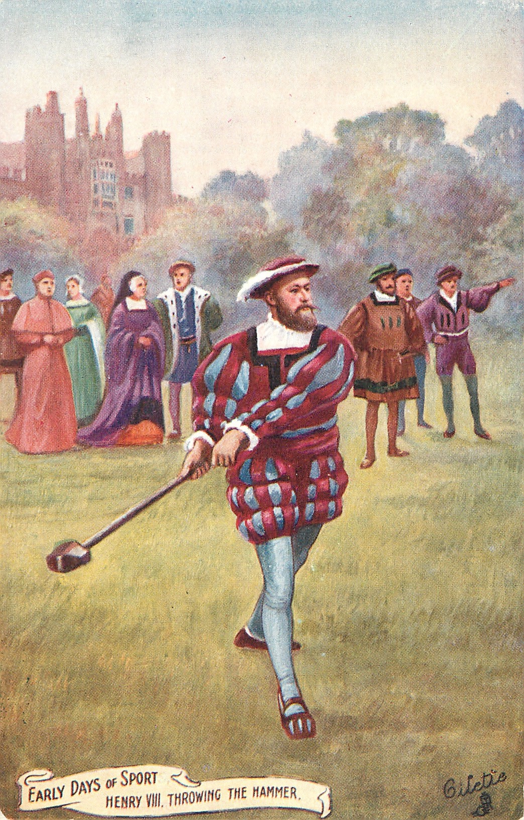 HENRY VIII THROWING THE HAMMER