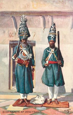 SIKH AKALIS AT AMRISTSAR