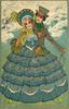 THE GENTLE ART OF MAKING LOVE  man behind girl with blue flower dress, both standing