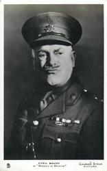"""CYRIL MAUDE IN """"ORDERS IS ORDERS""""  wears soldier uniform, holds monocle without hand"""