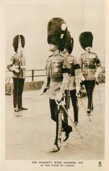 HIS MAJESTY KING EDWARD VIII., AT THE TOWER OF LONDON