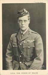H.R.H.THE PRINCE OF WALES  three quarter length study in military uniform