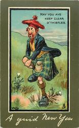 A GUID NEW YEAR  scotsman & thistles
