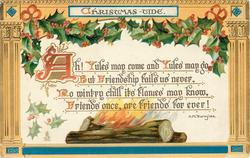 CHRISTMAS-TIDE   log fire
