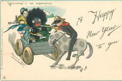 "A HAPPY NEW YEAR TO YOU, ""GOLLIWOGG"" & THE HIGHWAYMAN"