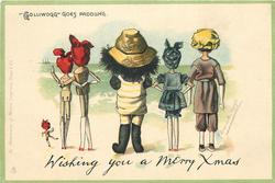 """GOLLIWOGG GOES PADDLING  WISHING YOU A MERRY XMAS"