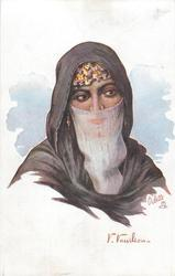 EGYPTIAN LADY IN OUTDOOR COSTUME