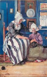 A KNITTING LESSON