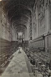 KING'S COLLEGE, CHAPEL INTERIOR