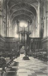 KING'S COLLEGE CHAPEL INTERIOR