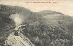 VIEW ON VALE OF RHEIDOL RAILWAY NEAR DEVIL'S BRIDGE