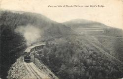 VIEW ON VALE OF RHEIDOL RAILWAY, NEAR DEVIL'S BRIDGE
