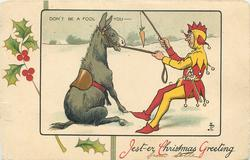 JEST-ER CHRISTMAS GREETING, DON'T BE A FOOL YOU  donkey