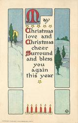 MAY CHRISTMAS LOVE AND CHRISTMAS CHEER SURROUND AND BLESS YOU AGAIN THIS YEAR  rural winter inset