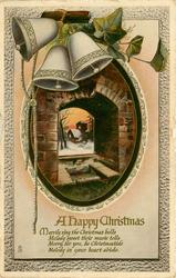 A HAPPY CHRISTMAS MERRILY RING THE CHRISTRMAS BELLS, MELODY SWEET THEIR MUSIC TELLS/IN YOUR HEART