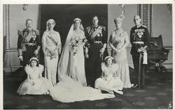 ROYAL WEDDING GROUP AT BUCKINGHAM PALACE, NOVEMBER 29TH, 1934, OF T.R.H.
