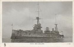 H.M.S NEW ZEALAND side view