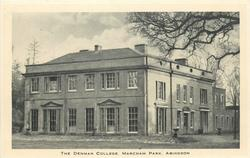 THE DENMAN COLLEGE. MARCHAM PARK