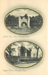 2 insets JUBILEE ARCH, RERES and CLAYPOTS CASTLE
