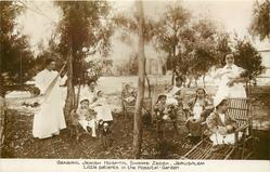 LITTLE PATIENTS IN THE HOSPITAL GARDEN
