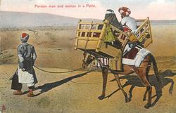 PERSIAN MAN AND WOMAN IN A PALIKI