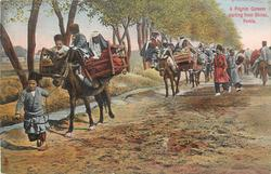 A PILGRIM CARAVAN STARTING FROM SHIRAZ, PERSIA